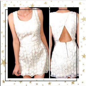 Blu Pepper Cream open back mini dress Small (C4)